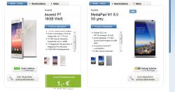 Huawei Ascend P7 für 19,99€ mtl.+ Huawei MediaPad M1 effektiv 0€ mtl. im Vodafone Smart M Logitel