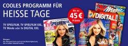 Jahresabo: TV Movie  für 2€, TV Spielfilm für 7,20€ + TV Spielfilm XXL für 8,50€ @Leserservice