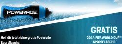 Kostenlose Powerade FIFA World Cup Trinkflasche sichern mit Aktionscode