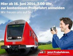 Kostenlose ProbeFahrten mit der Deutschen Bahn für Sachsen, Sachsen-Anhalt, Thüringen @bahn.de
