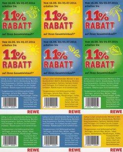 [LOKAL] 11% Rabatt-Coupon auf den gesamten Einkauf ohne MBW @REWE
