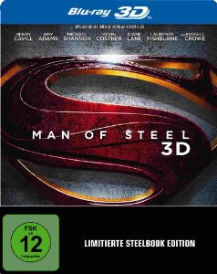 Man of Steel 3D Steelbook [3D Blu-ray, Limited Edition] für 14,97€ [idealo 25,99€]@ amazon