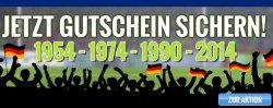 @medion: 1954, 1974, 1990, 2014 – weltmeisterliche Gutscheine! (19,54€, 19,74€, 19,90€, 2014€)