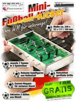 Mini Fußball-Kicker GRATIS zzgl. 4,90 € Versand bei PEARL.de