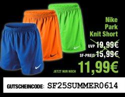 Nochmal 25% auf bereits reduzierte Shirts & Shorts z.B. Nike Park Short für 11,99€ +3€ Versand @soccer-fans-shop.de