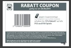 [LOKAL] Müller: 15% Rabatt auf PS3 und PS4 Spiele am 20.06.2014