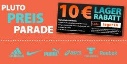 Pluto Preis Parade mit bis zu 92 Prozent Rabatt auf Adidas, Nike, Asics, Puma und Reebok + 10 Euro Gutscheincode bei Plutosport