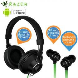 Razer Adaro Stereos (Head-Set) + Adaro-In (In-ears) für 99,95 € zzgl. 5,95 € Versand (177,45 € Idealo) @iBOOD Extra