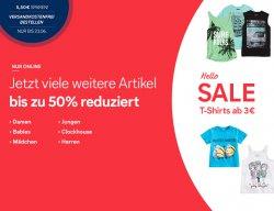 Sale bei C&A, bis zu 50 % reduzierte Artikel, versandkostenfrei bis 23.06.2014
