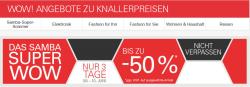 Samba Super Sommer und ab 8.6.2014 für nur 3 Tage das Samba Super WOW  mit bis zu 50% Rabatt bei Ebay
