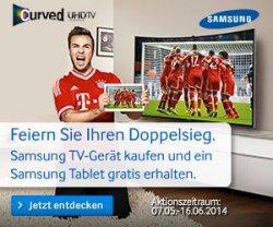 Samsung Aktion: Gratis Samsung GALAXY TabPRO 10.1 Wi-Fi bei Kauf Samsung-TV 55″ oder größer @samsung.de