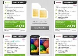 Sparhandy Live Deal zb. Talk Easy 100 Telekom mit Motorola Moto E für Effektiv 3,49€