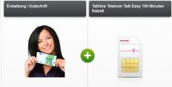 Talkline Talk Easy 100 ( 100 Freiminuten, 3000SMS + 200MB) im Telekom-Netz für effektiv 1,99€ mtl.@Modeo