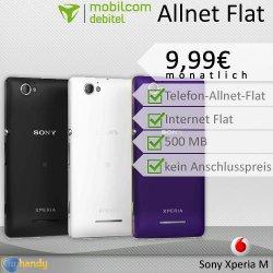 Telekom Comfort Allnet Flat + Sony Xperia M statt 24,99€ nur 9,99€ mtl.@ebay