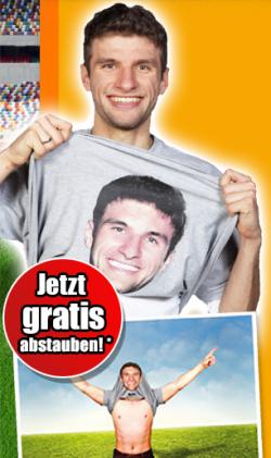 Thomas Müller Jubel-Shirt  kostenlos über Facebook (Grösse L)