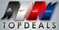 Top Deals mit bis zu 85 Prozent Rabatt auf Adidas, Nike, Puma und Asics bei Plutosport