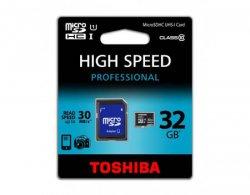 Toshiba 32GB microSDHC Class 10 + Adapter für 13,95€ @ meinpaket