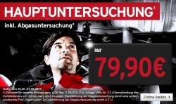 TÜV Hauptuntersuchung inkl. Abgasuntersuchung für 79€  @ A.T.U.