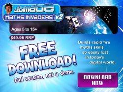 Ultimate Maths Invaders – Mathematik für Kinder zwischen 5 – 15 Jahren