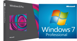 Windows 8 für 49,99€ oder Windows 7 Professional für 28,25 € als CD @ebay