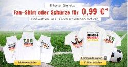 WM Fan TShirt oder Schürze für 0,99€ (+4,95€ Versand) @myprinting.de