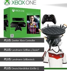 XBOX One 500GB, FIFA 2014 + 2 Controller und Gratis Zugaben für 438,95€@Alternate