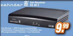 Zehnder DX80E Sat Receiver 9,99€ in Expert Filialen (Idealo: 34€)