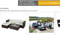 10% Rabatt auf alle Möbel bei ebay.de mit Gutscheincode CMOEBEL14 und nur bei Paypal Bezahlung!