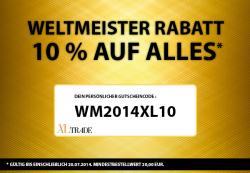 10 % Weltmeister Rabatt auf Marken Uhren und Schmuck @xltrade.de
