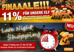 11 Prozent WM-Rabatt auf Alles und 20 Euro Rabatt auf die Kategorie Haushalt im Late Night Shopping bei Plus