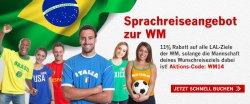 11% Rabatt für Sprachreiseziel während der WM sichern bei LAL Sprachreisen, einem der günstigsten Sprachreiseanbieter