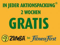 2 Wochen gratis Fitness First mit Gutschein von Aktivia Aktionspackung von REWE