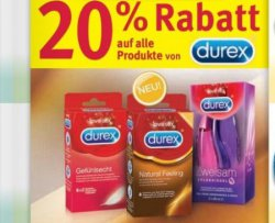 [Lokal] 20% auf alle DUREX Produkte bei Rossmann Bundesweit