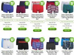 4 Paar Boxershorts zum Preis von 2 – Ecko, Tokyo Laundry, Ben Sherman und Bench  @Zavvi.com