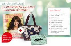 5 x Brigitte für 9,80€ + Gutschein von Douglas im Wert von 10€ dazu @brigitte.guj-direct.de