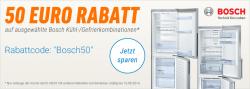 50€ Sofortrabatt auf Bosch Kühl- /Gefrierkombinationen @notebooksbilliger