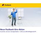 50€ Startguthaben + 100€ Aktivitätsgutschrift bei der Postbank