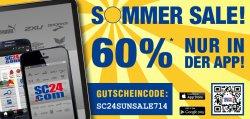 60% SALE Rabatt auf Markensportartikel @SC24.com – nur in der App-Version!
