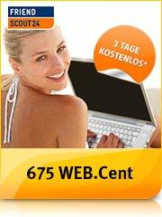 675 WEB.Cent (für z.B. 5 € Bestchoice Gutschein) für automatisch endende 3-tägige Premium Mitgliedschaft bei FriendScout24