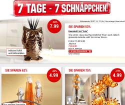 7 Tage 7 Schnäppchen @Weltbild z.B. Raumduft-Set Eule für 7,99 € (20,89 € Idealo)