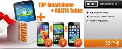 Base All in: Zb. Samsung Galaxy S5 + gratis Samsung Galaxy Tab 3 7.0 LiteTablet zum Samsung nur 35€ mtl.@ Handyflash