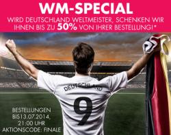 Beate Uhse: 50% Rückerstattung als Gutschein, wenn Deutschland Weltmeister wird