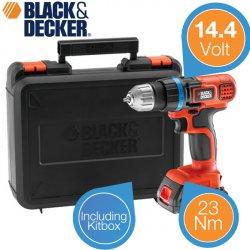 Black & Decker 14,4V Bohrschrauber mit Lithium-Ionen-Akku für 59,95 € zzgl. 5,95 € Versand (97,90 € Idealo) @iBOOD Extra