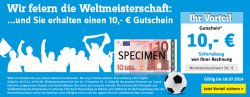 @Conrad.de verteilt 10€ Weltmeister Gutscheine ab 50€ MBW