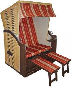 @d-living.de bietet DekoVries Strandkorb Economy, beige Dessin 334 für 199€ (Idealo: 269,04€)