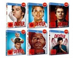 Dexter Staffel 1 bis 6 auf Blu-ray für je 15,99€ @buch.de (Idealo: mind. 21€)