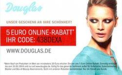 @douglas.de: 5 Euro Gutscheincode für Onlineshop (30€ MBW)