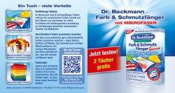 @Dr. Beckmann verteilt zwei Exemplare Farb- & Schmutzfänger mit Mikrofaser kostenlos