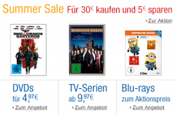 DVD und Blu-ray Summer Sale @Amazon