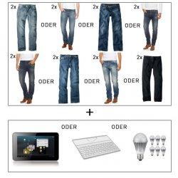 @ebay.de bietet Das Crazy Bundle: 2 x H.I.S Jeans Herren + ARNOVA 7F G3 Tablet oder Ipad Tastatur oder 7 Samsung LED für 69€